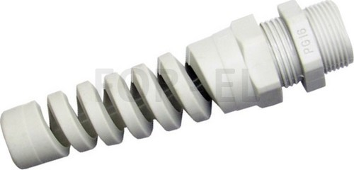 Cable gland with spiral top